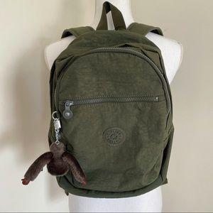 Kipling Challenger II Backpack Jaded Green Tonal